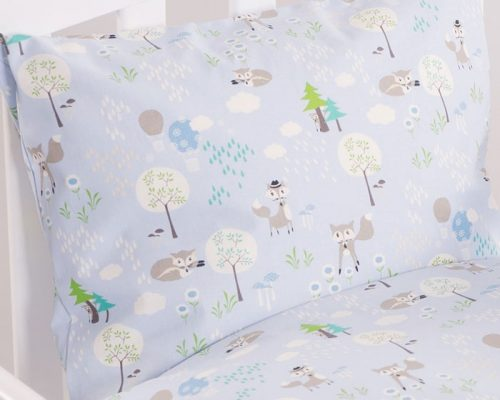 Nørgaard Madsen Skovens dyr blå juniorsengetøj